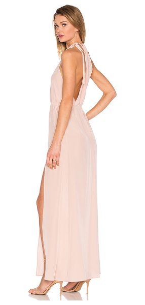 STONE COLD FOX Onyx Gown in dusty rose - 100% silk. Dry clean only. Unlined. Back tie closure....