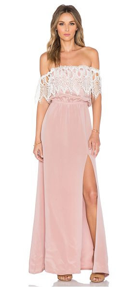STONE COLD FOX Rupp maxi dress in blush - Self: 100% silkLace trim: 100% rayon. Dry clean only....