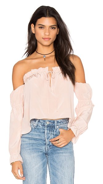 STONE COLD FOX x REVOLVE Nate Blouse - Silk blend. Dry clean only. Elastic neckline with tie...