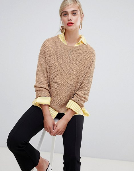Stradivarius basic knitted sweater in beige - Sweater by Stradivarius, When you just want to be comfy,...