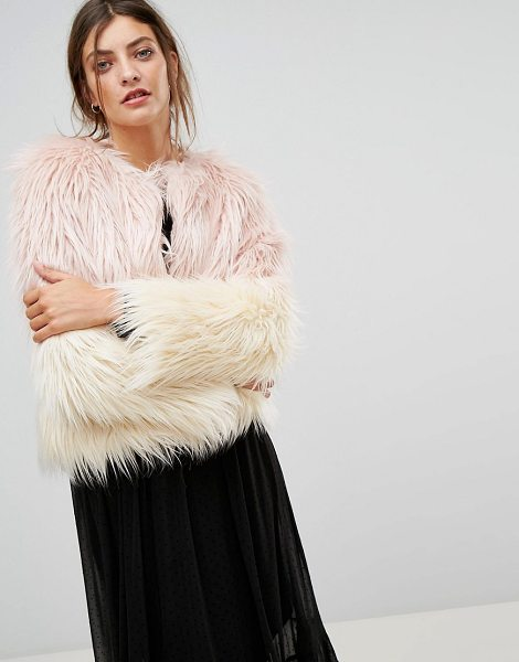 "STRADIVARIUS Faux Fur Jacket - """"Jacket by Stradivarius, Soft-touch fluffy faux fur,..."