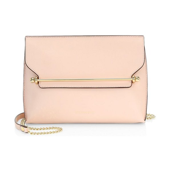 STRATHBERRY east/west stylist leather crossbody in soft pink