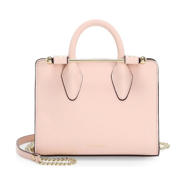 STRATHBERRY nano leather tote bag in soft pink