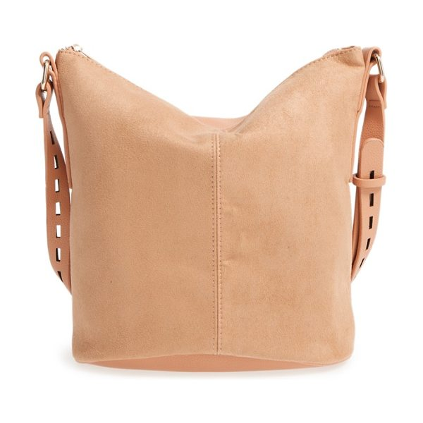 Street Level faux leather bucket bag in tan - Add a bit of modern sophistication to your everyday...