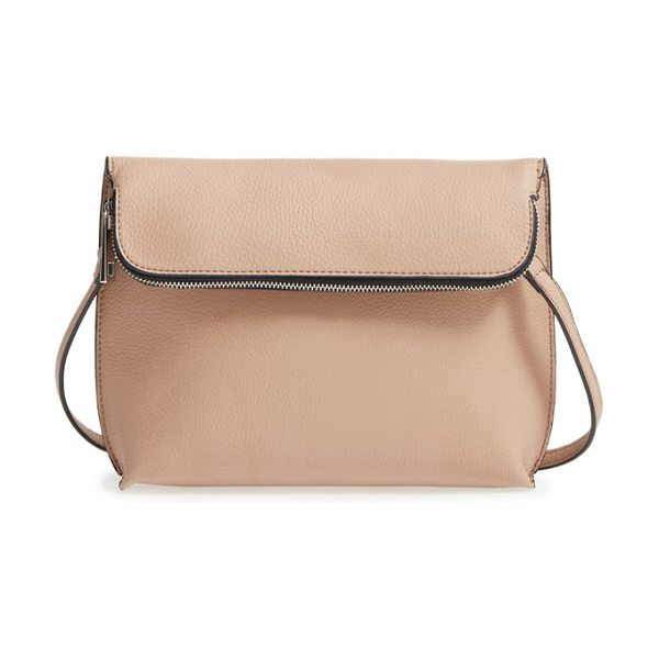 Street Level Faux leather crossbody bag in sand