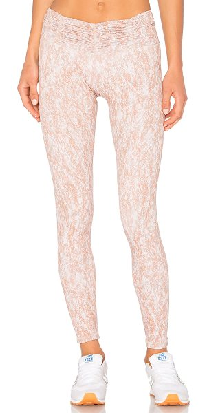 STRUT-THIS The Hudson Legging in nude snake - Spandex blend. Hand wash cold. Shirred waistband....