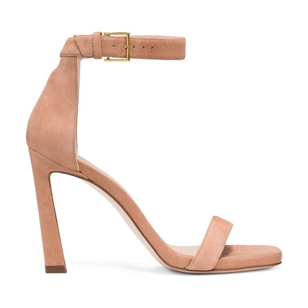 Stuart Weitzman 100Squarenudist in naked pink beige suede - The 100SquareNudist sandals, inspired by the iconic...