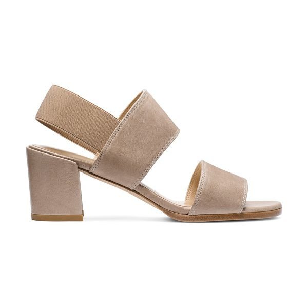 Stuart Weitzman Accesschorus in bamboo textured nappa leather - Be the chicest on the block in these pared-down sandals,...