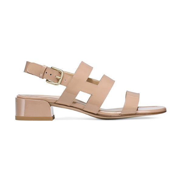 STUART WEITZMAN Barrio - Cage-inspired straps embrace and flatter the foot,...
