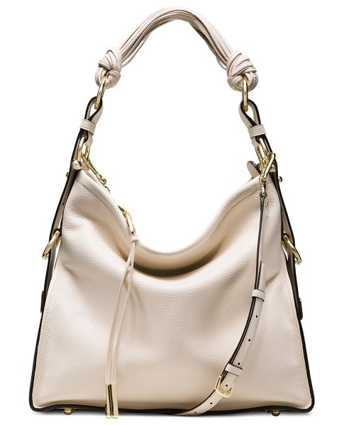 Stuart Weitzman Brigitte in parchment grain lux - Meet the BRIGITTE: An haute hobo bag designed to capture...