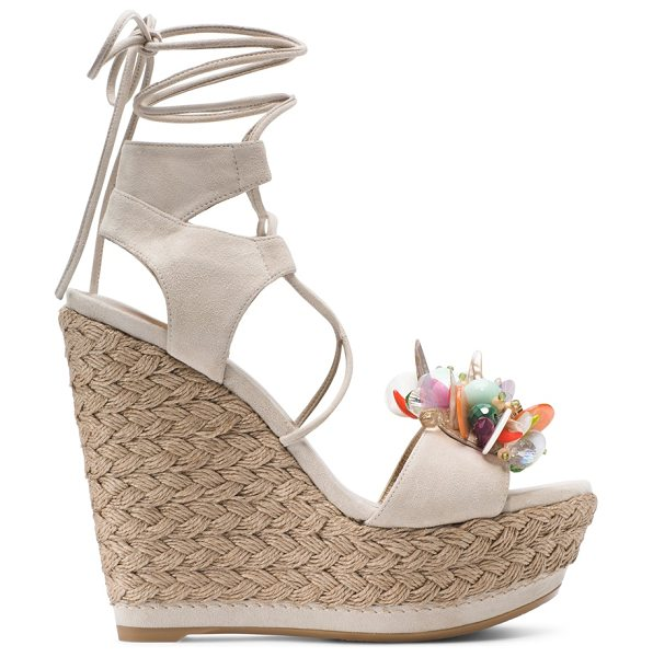 Stuart Weitzman Cake in pastry beige suede - Looking fabulous is a cakewalk in this eye-catching...