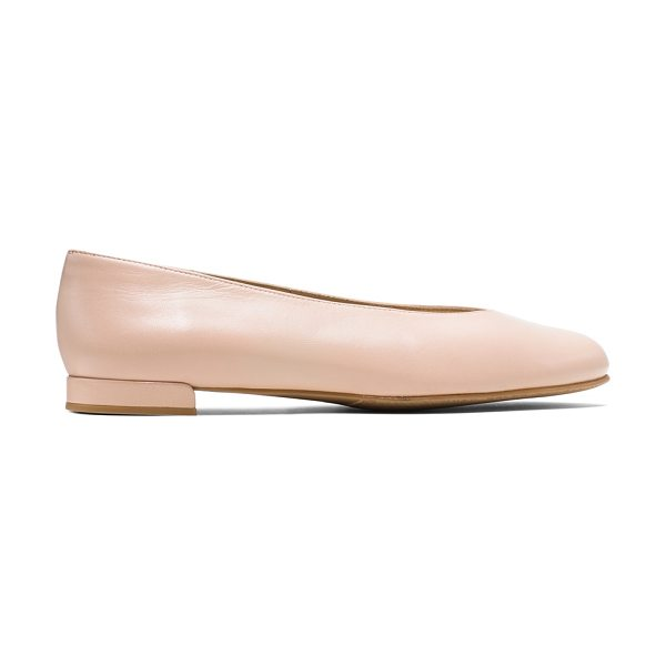 Stuart Weitzman Chicflat in shell nappa leather - Ultra-minimalist flats are back. Inspired by the iconic...