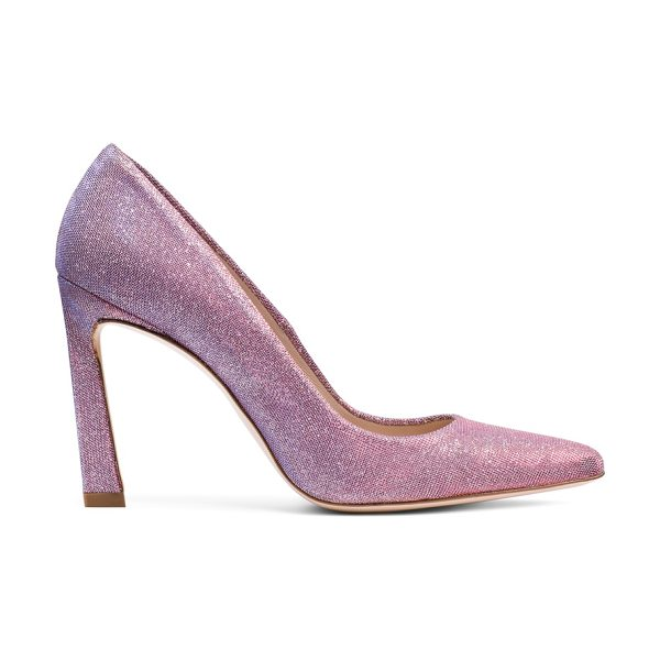 Stuart Weitzman Chicster in mystic pink lamã© - A sexy spin on classic pumps, the CHICSTER stands out....