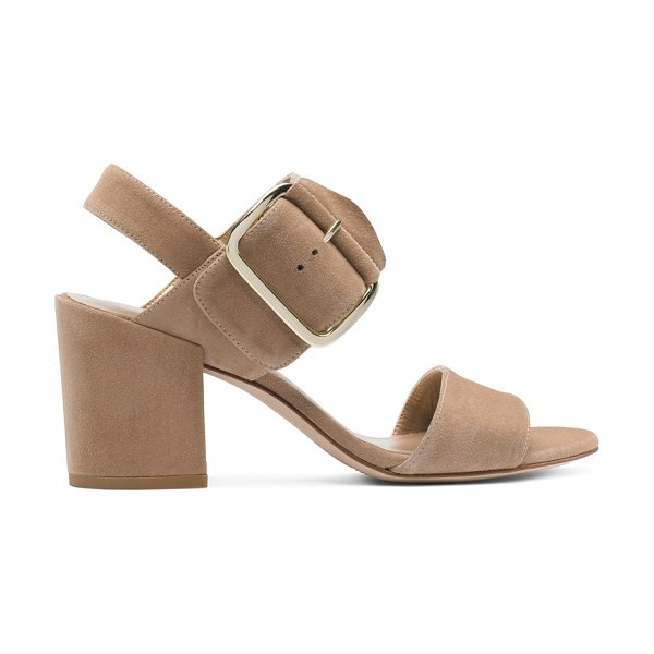 STUART WEITZMAN Citysandal - These city-slick style staples pair retro-inspired,...
