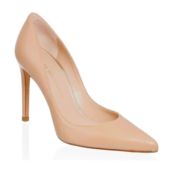 STUART WEITZMAN curvia leather pumps - Luxurious leather pumps with textured finish detail....