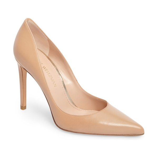 Stuart Weitzman curvia pump in bambina nappa - A timeless closet staple, this sleek pointy-toe pump is...
