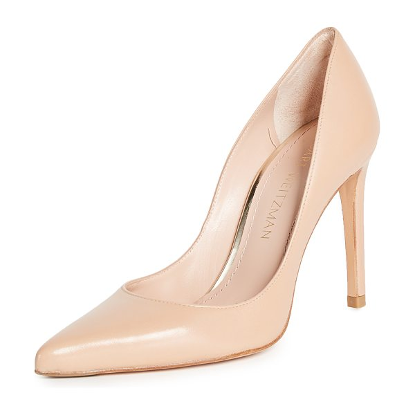 Stuart Weitzman curvia pumps in bambina - Pointed-toe Stewart Weitzman pumps in buttery leather....