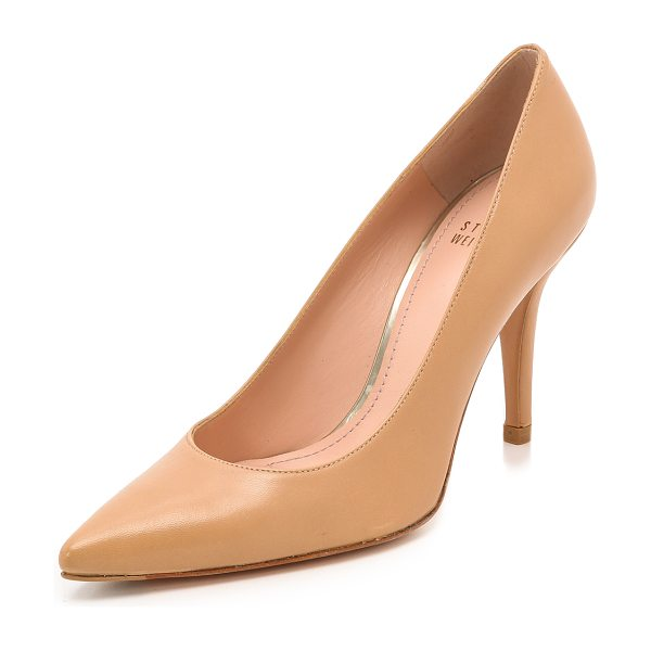 Stuart Weitzman Daisy 90Mm Pumps in light camel - Timeless Stuart Weitzman pumps cut from smooth leather...