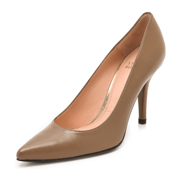 Stuart Weitzman daisy 90mm pumps in truffle - Timeless Stuart Weitzman pumps cut from smooth leather...