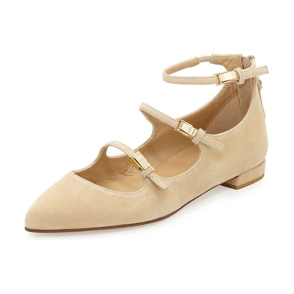 STUART WEITZMAN Flippy Three-Strap Mary Jane Flat - ONLYATNM Only Here. Only Ours. Exclusively for You....