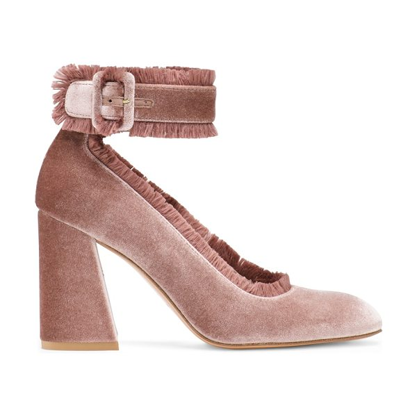 Stuart Weitzman Fringeclarisa in candy pink velvet - Go mad for Mod — including the FRINGECLARISA pumps,...