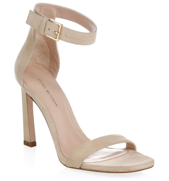 STUART WEITZMAN high heel sandal - Slant toe and heel modernize essential strappy heels....