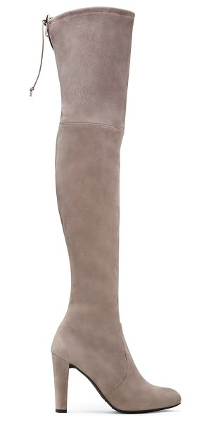 Stuart Weitzman Highland in taupe suede - Unequivocally the hottest boot of the season, this...