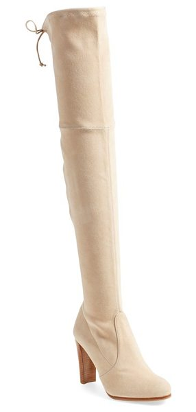 Stuart Weitzman highland over the knee boot in buff suede - Suede backed with Lycra shapes a supple, slimming...