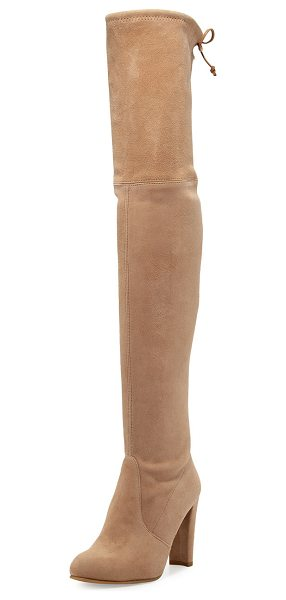 "STUART WEITZMAN Highland Suede Over-The-Knee Boot - Stuart Weitzman suede over-the-knee boot. 24""H stretch..."