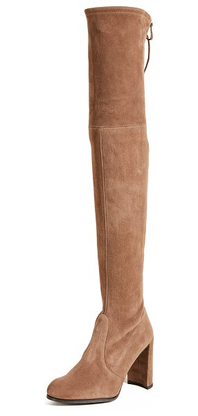 Stuart Weitzman hiline over the knee boots in nutmeg - Striking Stuart Weitzman over-the-knee boots in soft...