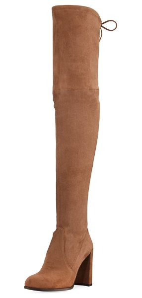 "Stuart Weitzman Hiline Suede Over-The-Knee Boot in nutmeg - Stuart Weitzman suede over-the-knee boot. 22""H stretch..."