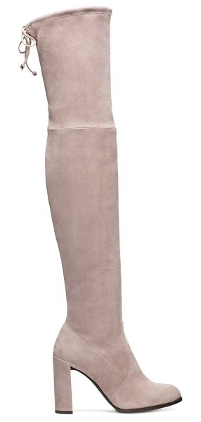 Stuart Weitzman Hiline in haze beige suede - Hello, HILINE. Over-the-knee boots are a fashion staple,...