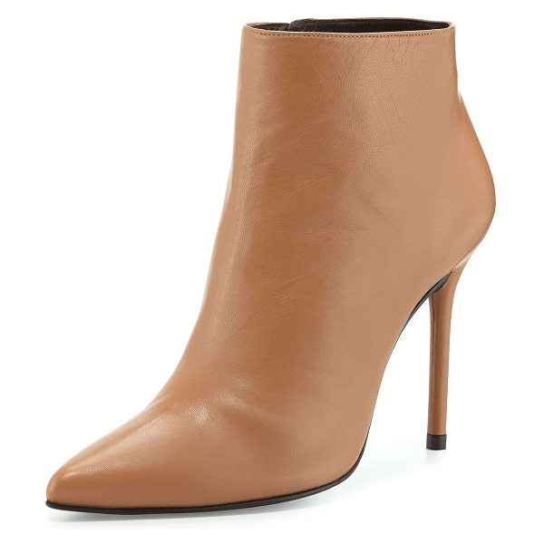 """STUART WEITZMAN Hitimes leather ankle boot - Stuart Weitzman leather ankle bootie. 4. 5"""" covered..."""