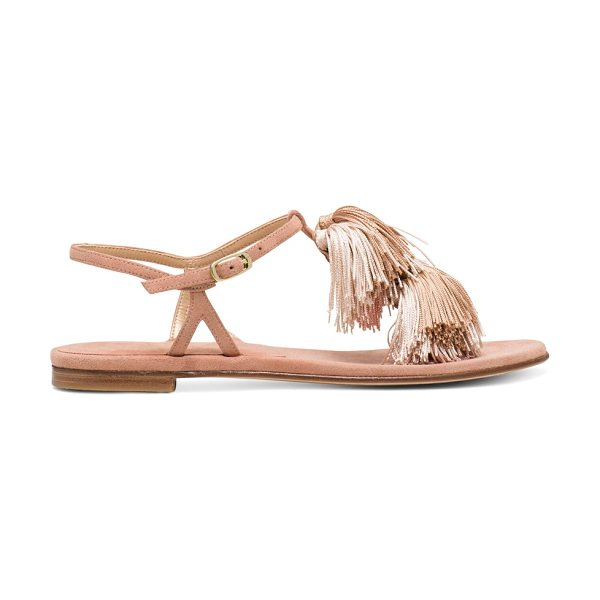 Stuart Weitzman Jabow in naked pink beige suede - Get swept away by these statement sandals: Top-tier...