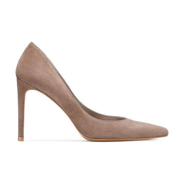 Stuart Weitzman Legend in haze beige suede - These pointed-toe pumps just might be perfect — note...