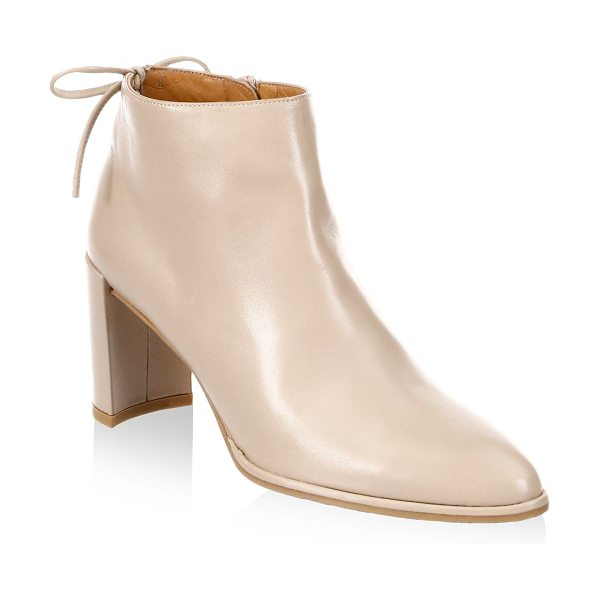 STUART WEITZMAN lofty leather booties in natural - Striking leather booties in point toe style....
