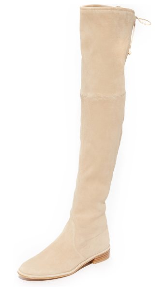 Stuart Weitzman Lowland Over The Knee Boots in buff - These over the knee Stuart Weitzman boots are crafted in...