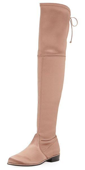 "Stuart Weitzman Lowland Satin Over-The-Knee Boot in old rose - EXCLUSIVELY AT NEIMAN MARCUS Stuart Weitzman ""Lowland""..."