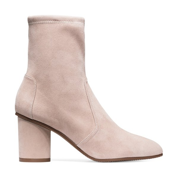 Stuart Weitzman Margot 75 in dolce taupe suede - Sock booties are year-round fashion fixtures, and the...