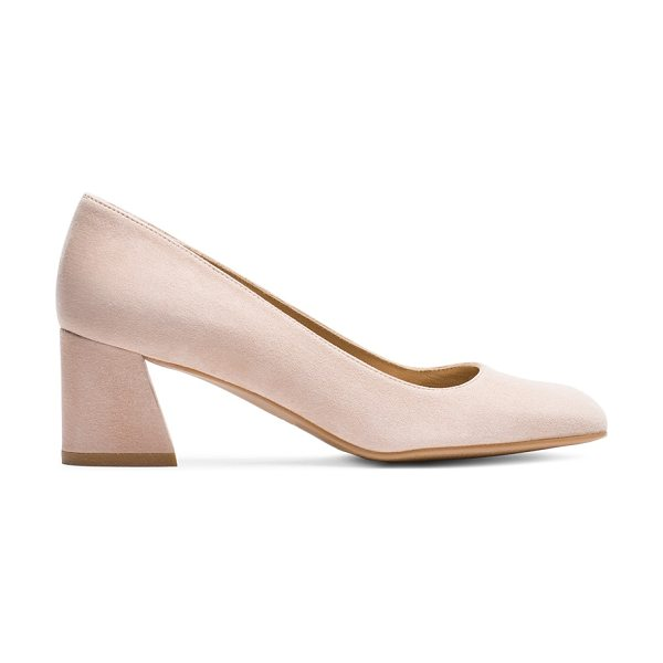 Stuart Weitzman Marymid in bisque suede - Office-appropriate has never looked so chic. Classic...