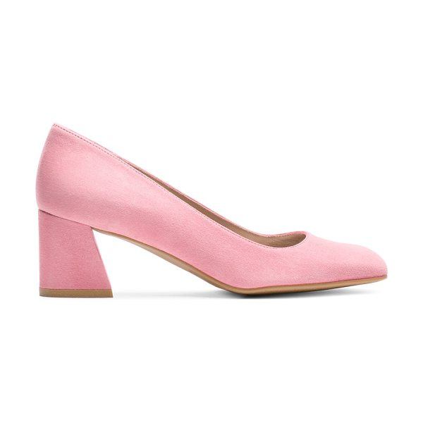 Stuart Weitzman Marymid in candy pink suede - Office-appropriate has never looked so chic. Classic...