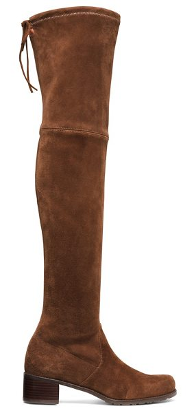 STUART WEITZMAN Midland in walnut suede - Over-the-knee boots maintain their reign, and this new...