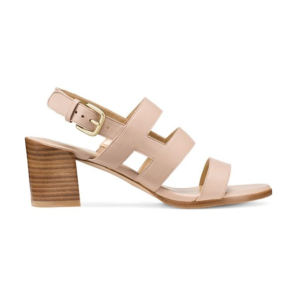 STUART WEITZMAN Milanese - Wide cage-inspired leather straps infuse effortless...