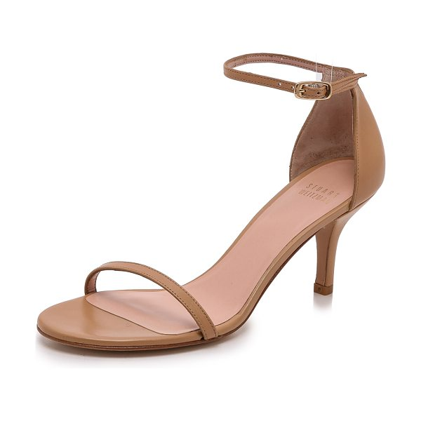 Stuart Weitzman naked 65mm sandals in light camel - Delicate Stuart Weitzman sandals composed of smooth...
