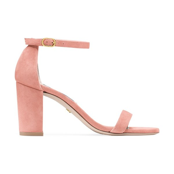 Stuart Weitzman nearlynude in shell coral suede
