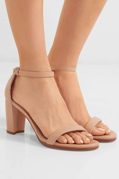 Stuart Weitzman nearlynude leather sandals in neutral - Stuart Weitzman's 'NearlyNude' sandals are favored among...