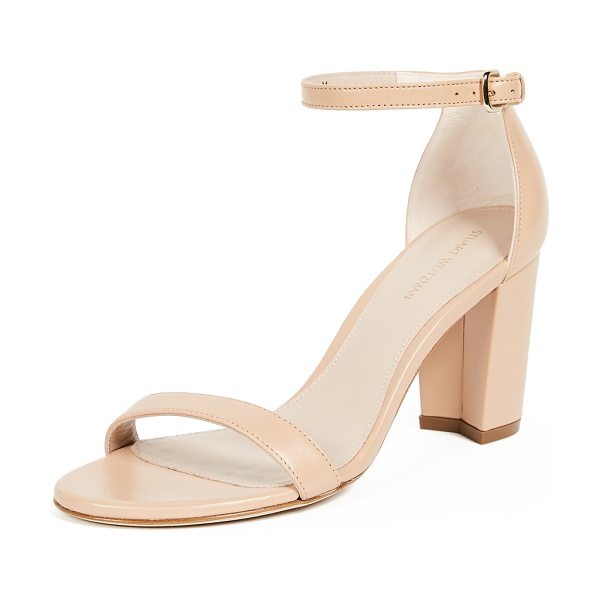 Stuart Weitzman nearlynude sandals in bambina