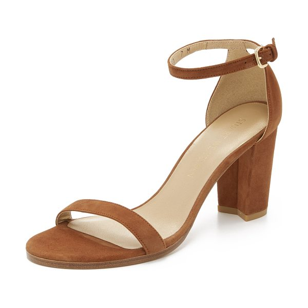 Stuart Weitzman Nearlynude sandals in saddle