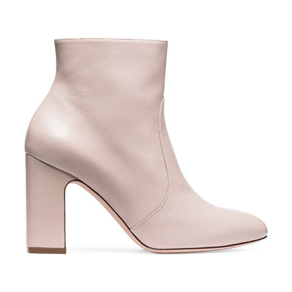 Stuart Weitzman Nell in dolce taupe nappa leather - Crafted from nappa, the Nell booties stand out with a...