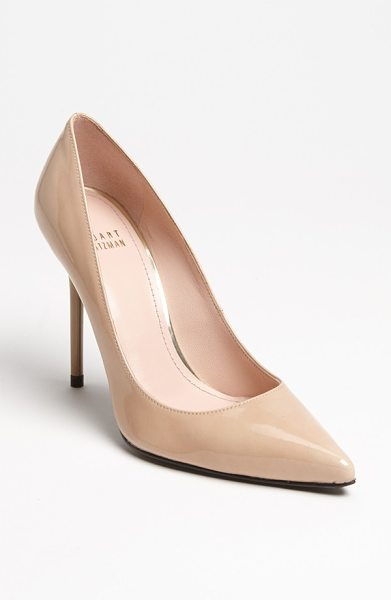 STUART WEITZMAN 'nouveau' pump - A low-cut vamp heightens the allure of a single-sole...